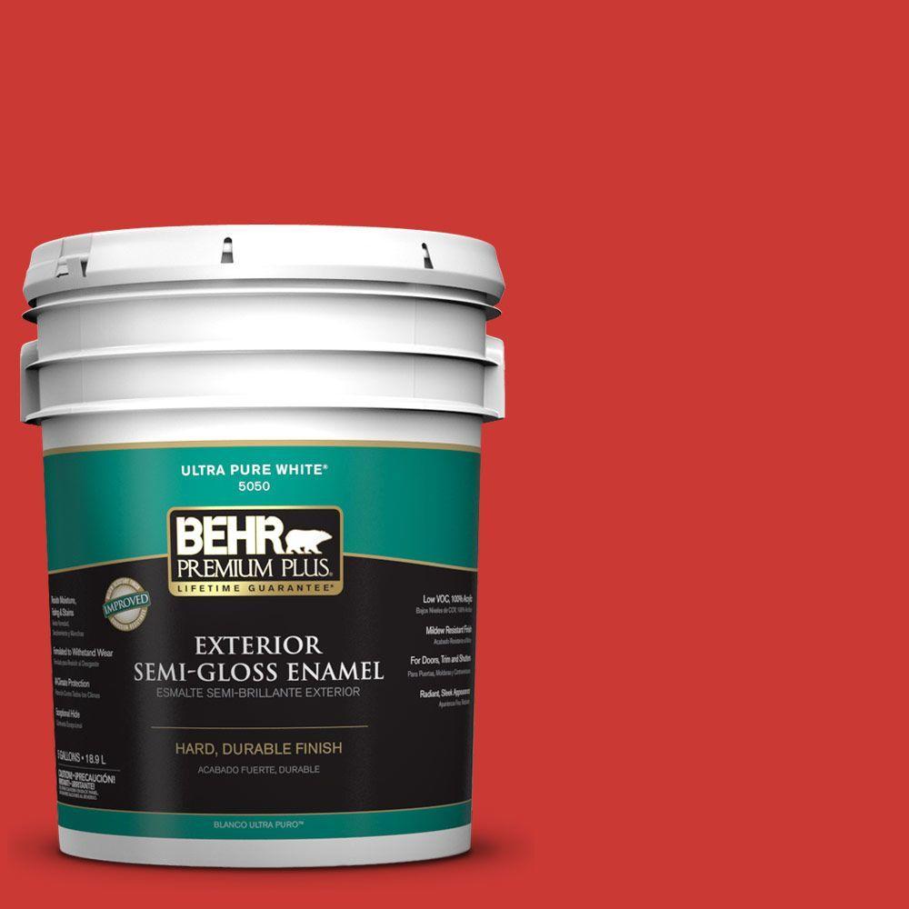 5-gal. #S-G-180 Grenadine Semi-Gloss Enamel Exterior Paint