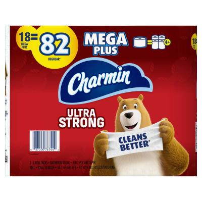 Ultra Strong Toilet Paper (18-Mega Plus Rolls)