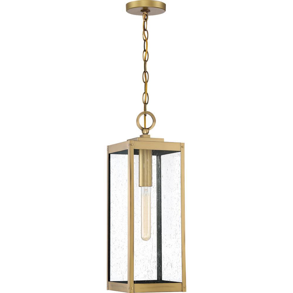 Westover 1-Light Brass Outdoor Pendant Light