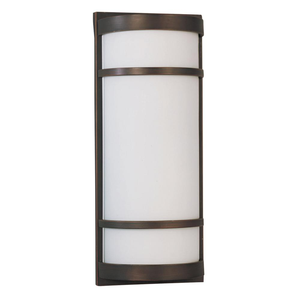 Brio 2-Light Oil-Rubbed Bronze Outdoor Wall Lantern Sconce