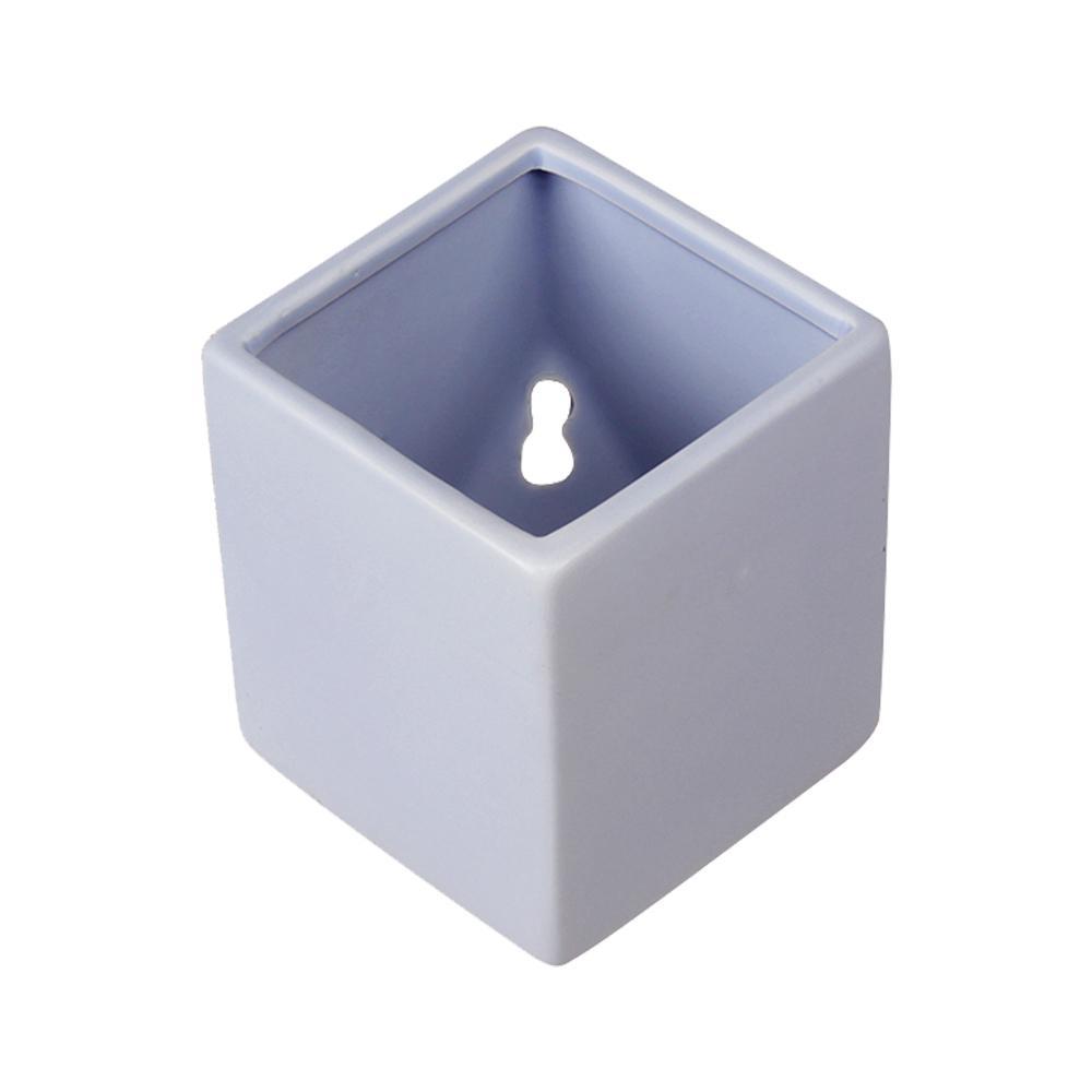 Cube 3-1/2 in. x 4 in. Sky Ceramic Wall Planter
