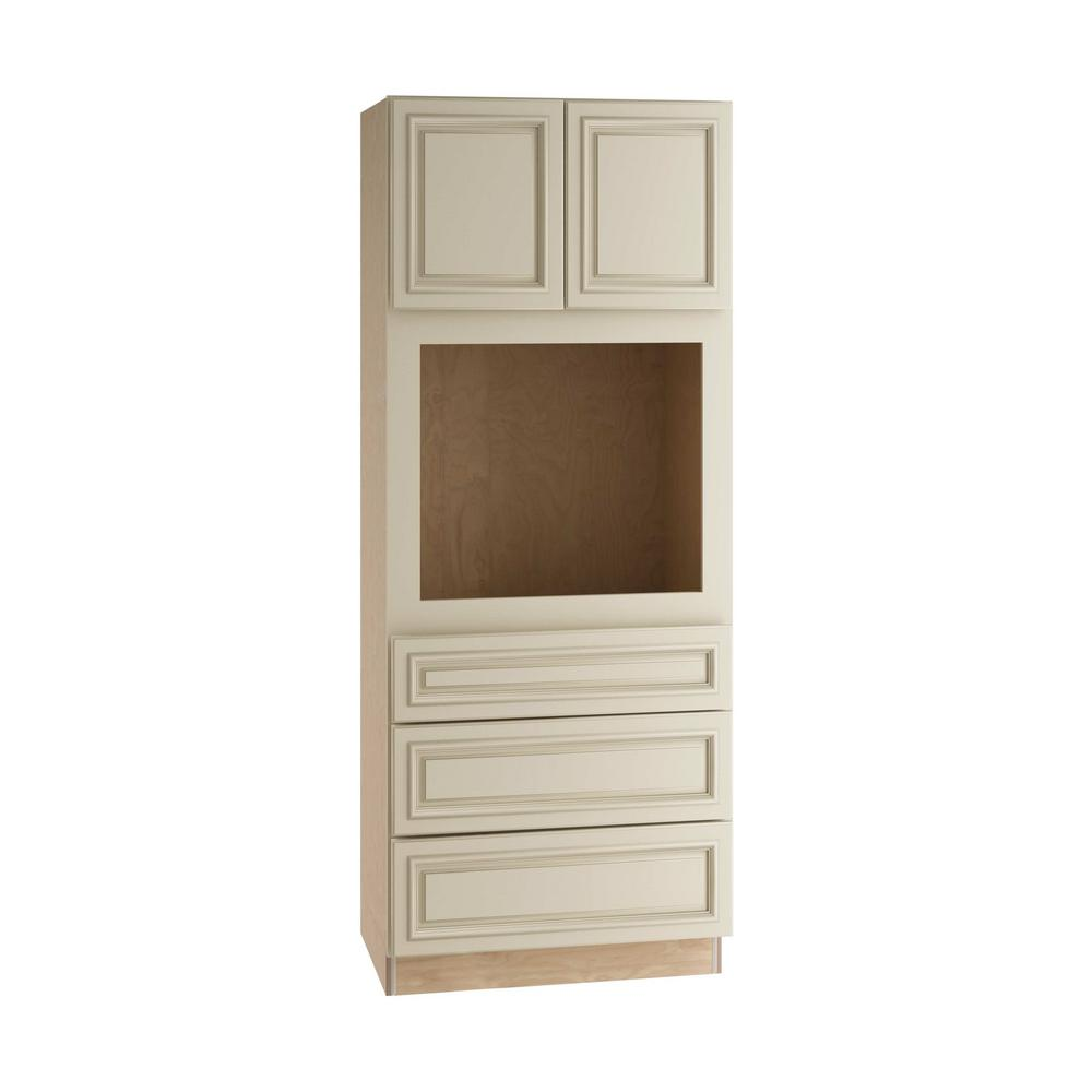 Home Decorators Collection Holden Assembled 33 x 84 x 24 in. Pantry/Utility Universal Oven Kitchen Cabinet in Bronze Glaze