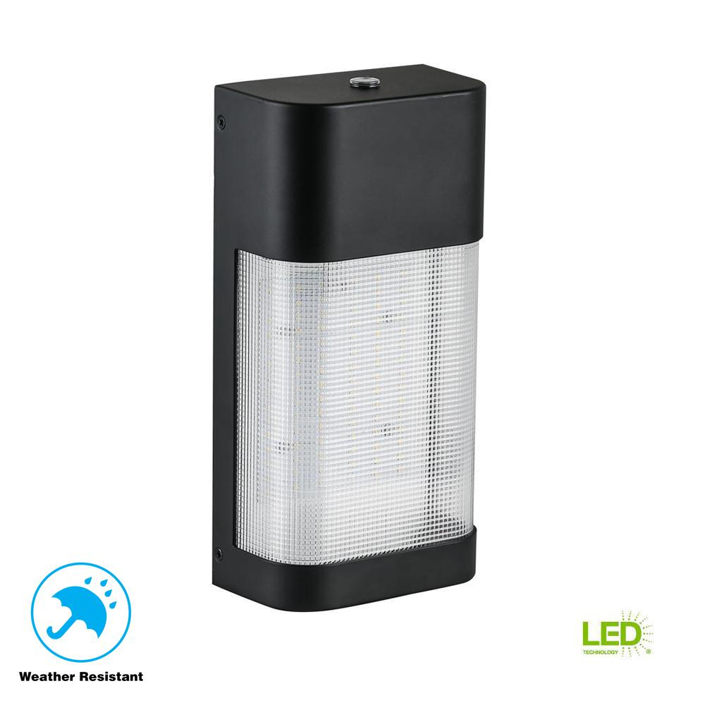 311035312ee2 Defiant LED Outdoor Dusk to Dawn Area Flood Wall Pack Light-DW9582BK ...