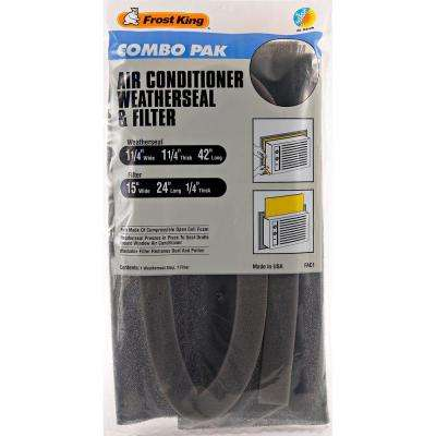 E/O 1-1/4 in. x 42 in. Polyurethane Air Conditioner Weather Seal with 15 in. x 24 in. Filter