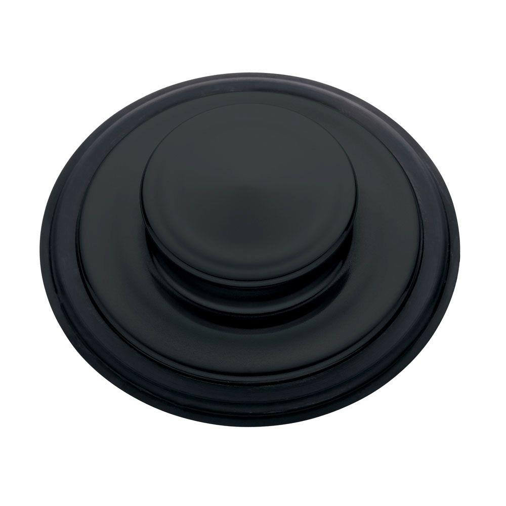 Sink Stopper in Matte Black for InSinkErator Garbage Disposals
