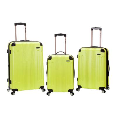 Rockland Sonic 3-Piece Hardside Spinner Luggage Set, Lime