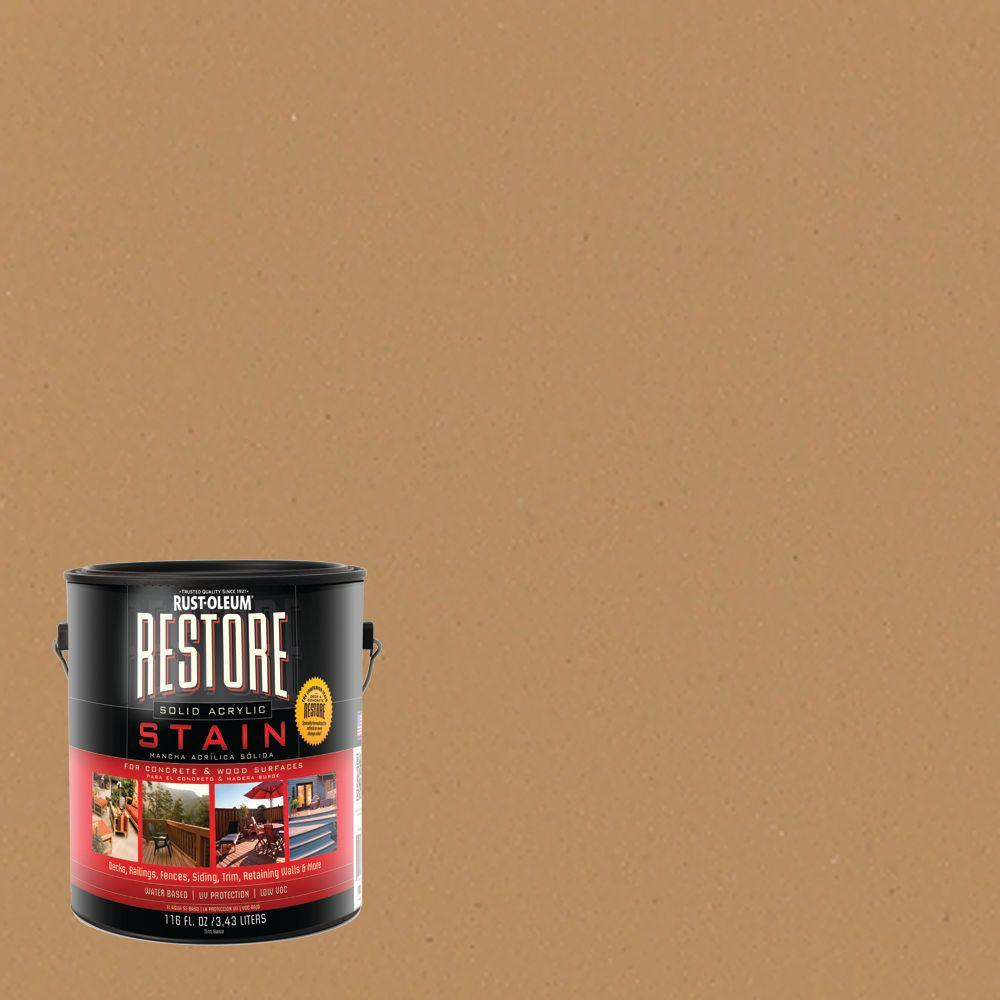 Rust-Oleum Restore 1 gal. Solid Acrylic Water Based Sandstone Exterior Stain