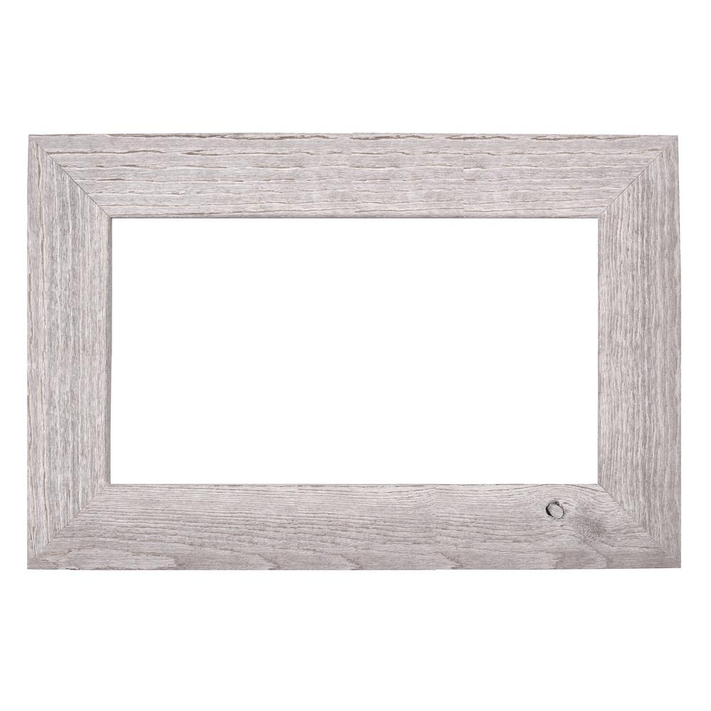Mirrorchic Driftwood 42 In X 42 In Mirror Frame Kit In White