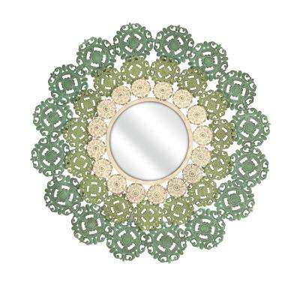 McGuire Medallion Green Decorative Wall Mirror