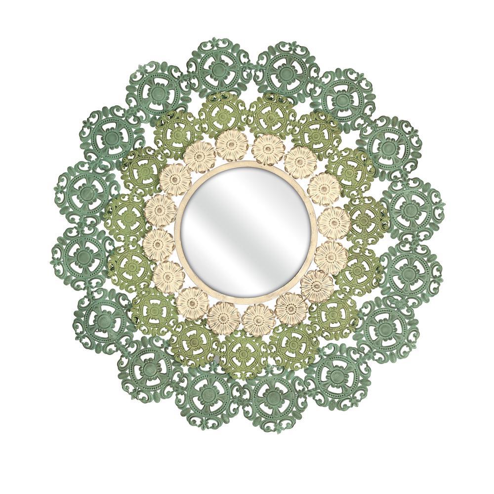 McGuire Medallion Green Decorative Wall Mirror 74313