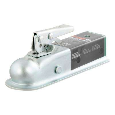 "2"" Straight-Tongue Coupler with Posi-Lock (2"" Channel, 3,500 lbs., Zinc)"