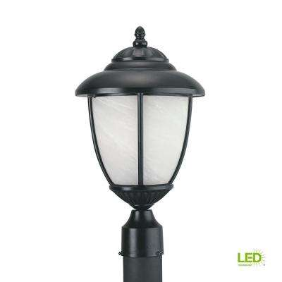 Yorktown 1-Light Outdoor Black Post Light with LED Bulb