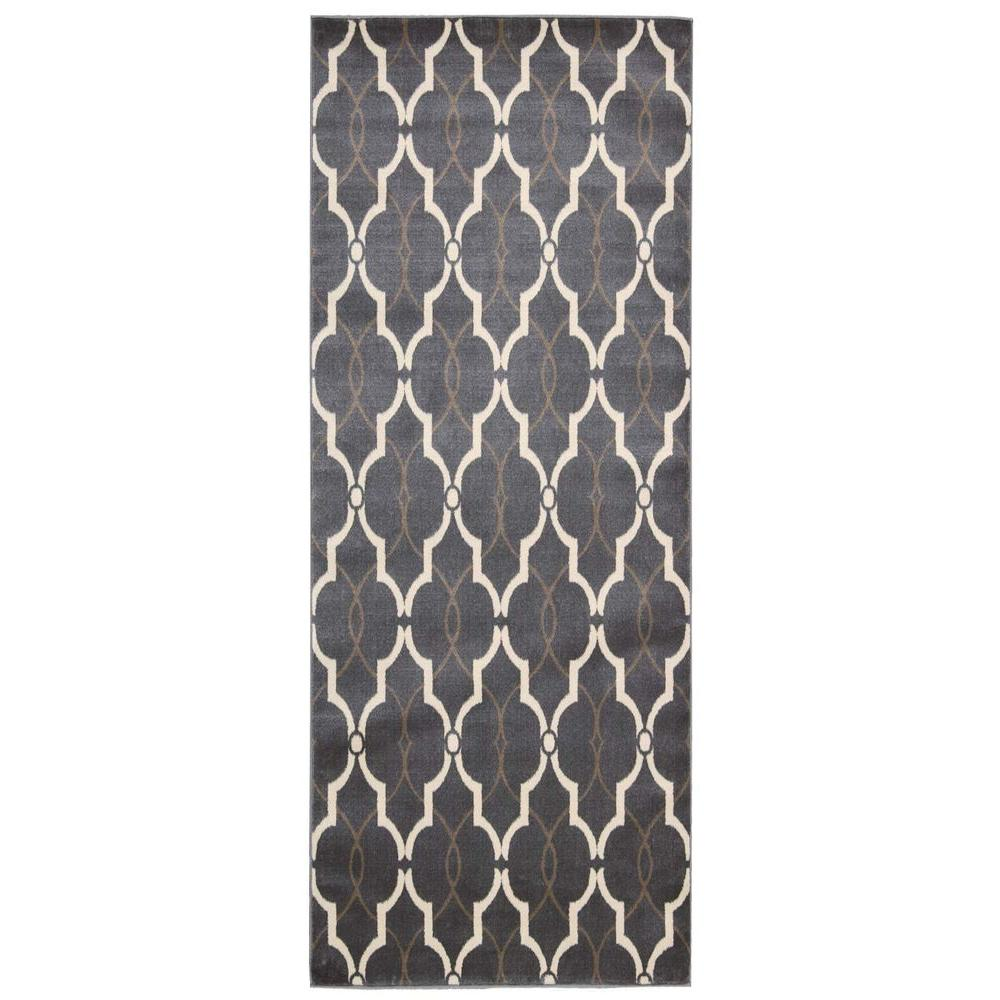 Nourison Nova Grey 2 ft. 2 in. x 7 ft. 3 in. Runner