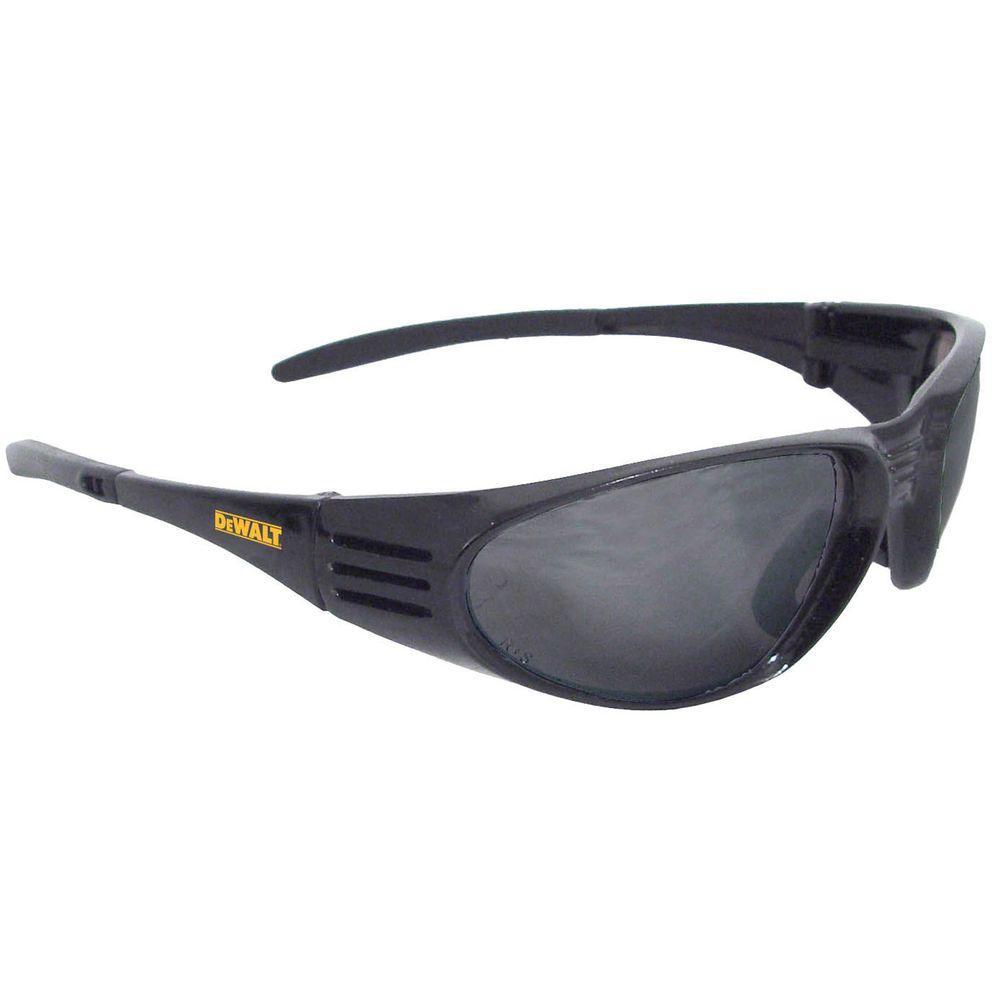 Safety Glasses Ventilator Black Frame with Smoke Lens