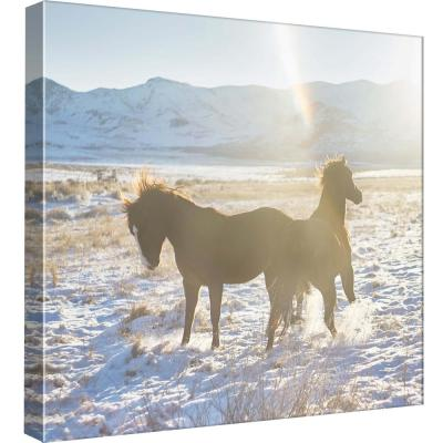 15 in. x 15 in. ''Horse Fort Ranch 4'' Printed Canvas Wall Art