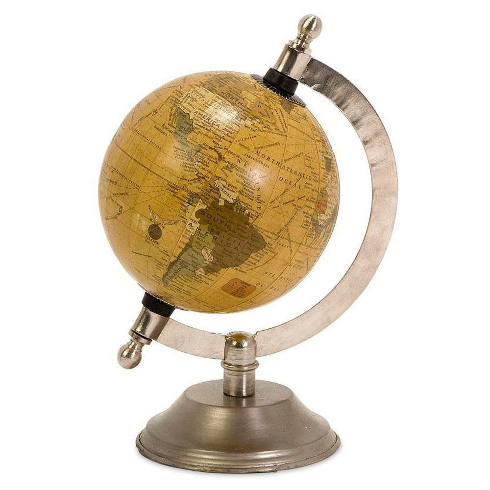 Colonies 8 In H X 5 In D Nickel Desk Globe