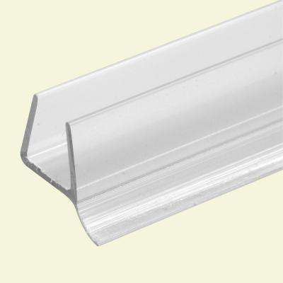 3/8 in. x 36 in., Frameless Shower Door, Bottom Seal