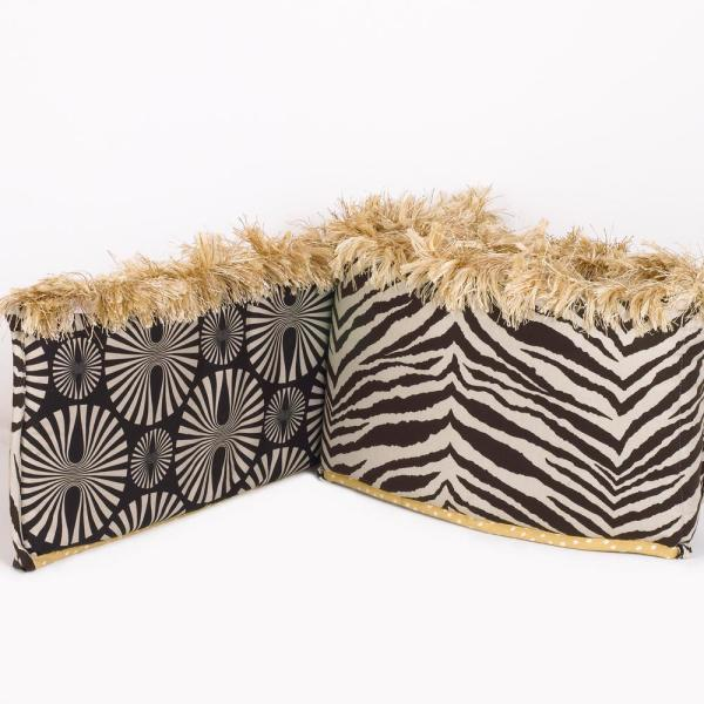 Sumba 4-Sectional Cotton Crib Bumper Pads