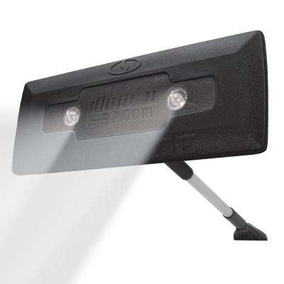LED Lighted 4-in-1 Snow Broom and Ice Scraper in Black