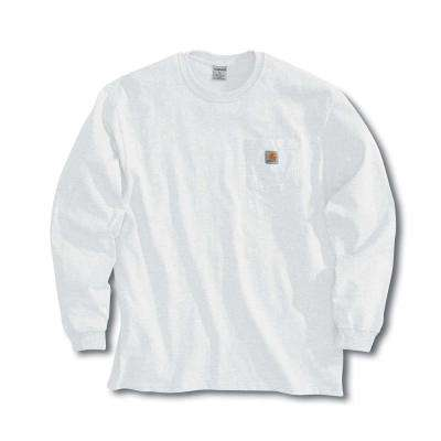 Men's Regular X Large White Cotton Long-Sleeve T-Shirt