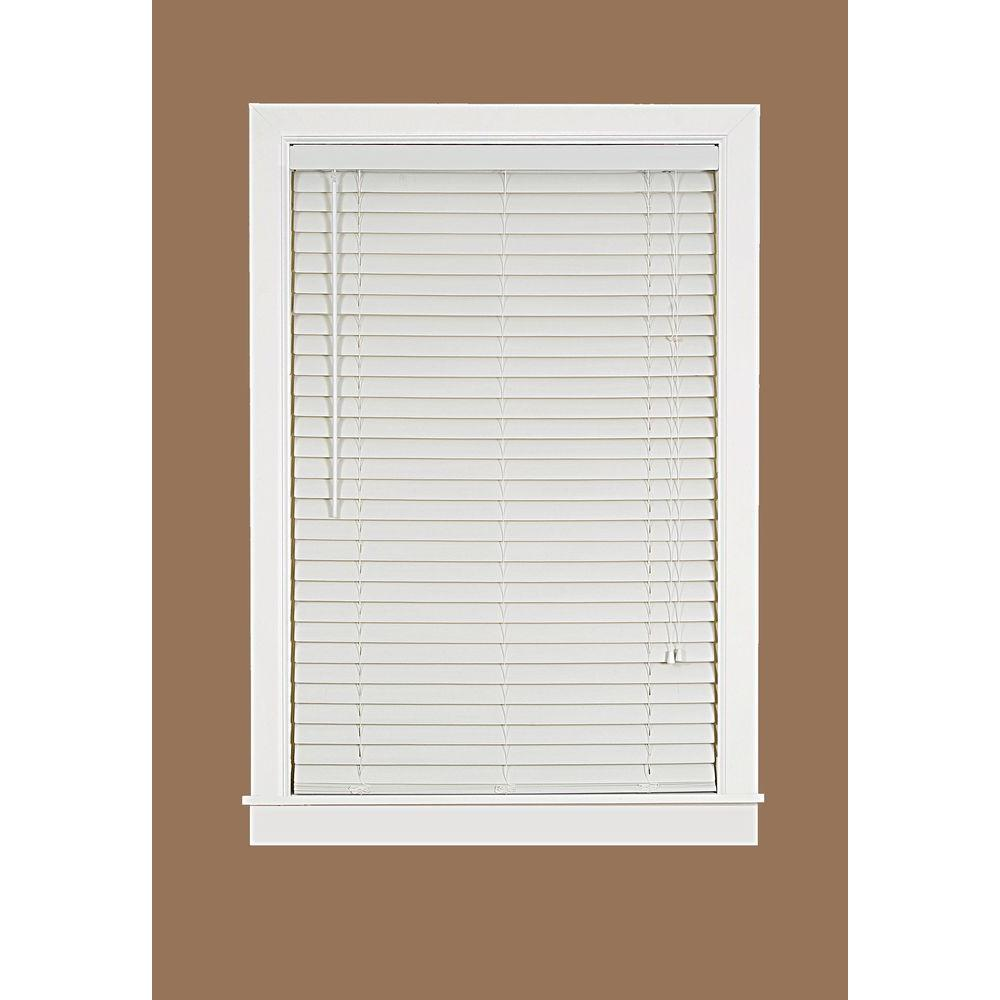 Luna White 2 in. Light Filtering Vinyl Mini Blind - 48 in. W x 64 in. L