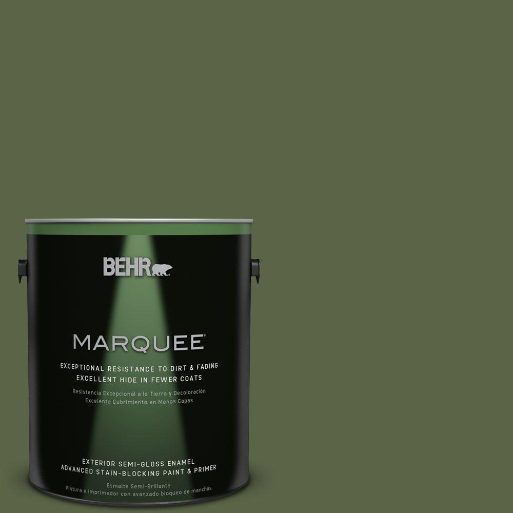 1-gal. #ECC-38-3 Sea Fern Semi-Gloss Enamel Exterior Paint