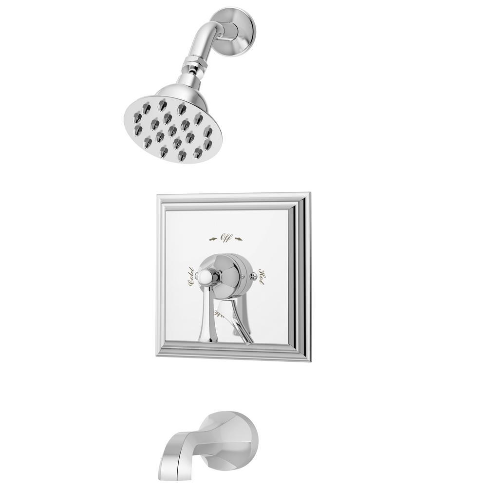 Canterbury Tub/Shower Valve Trim Kit with Lever Diverter in Chrome (Valve