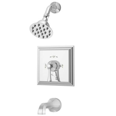 Canterbury Tub/Shower Valve Trim Kit with Lever Diverter in Chrome (Valve not Included)