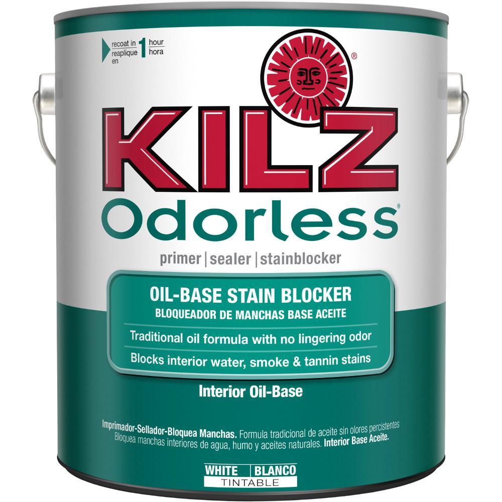 Odorless 1 gal. White Oil-Based Interior Primer, Sealer and Stain-Blocker