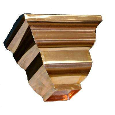 Essex Copper Conductor Head with 3 in. Round Outlet