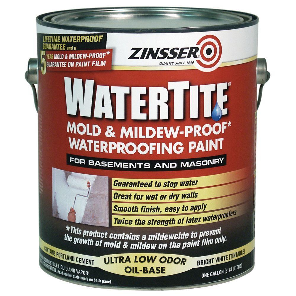 Zinsser 1-gal. Watertite Mildew Proof Waterproofing Paint-DISCONTINUED