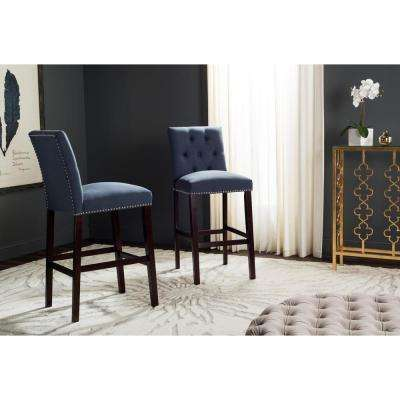 Norah 31.5 in. Bar Stool in Navy (Set of 2)