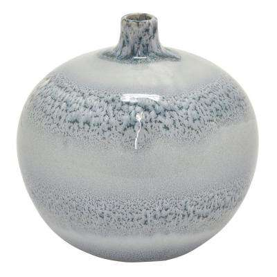 7.75 in. Gray Ceramic Vase
