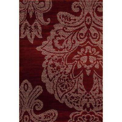 bastille large damask red bastille large damask red red navy red navy beautiful traditional handtufted 5x8 area rug black