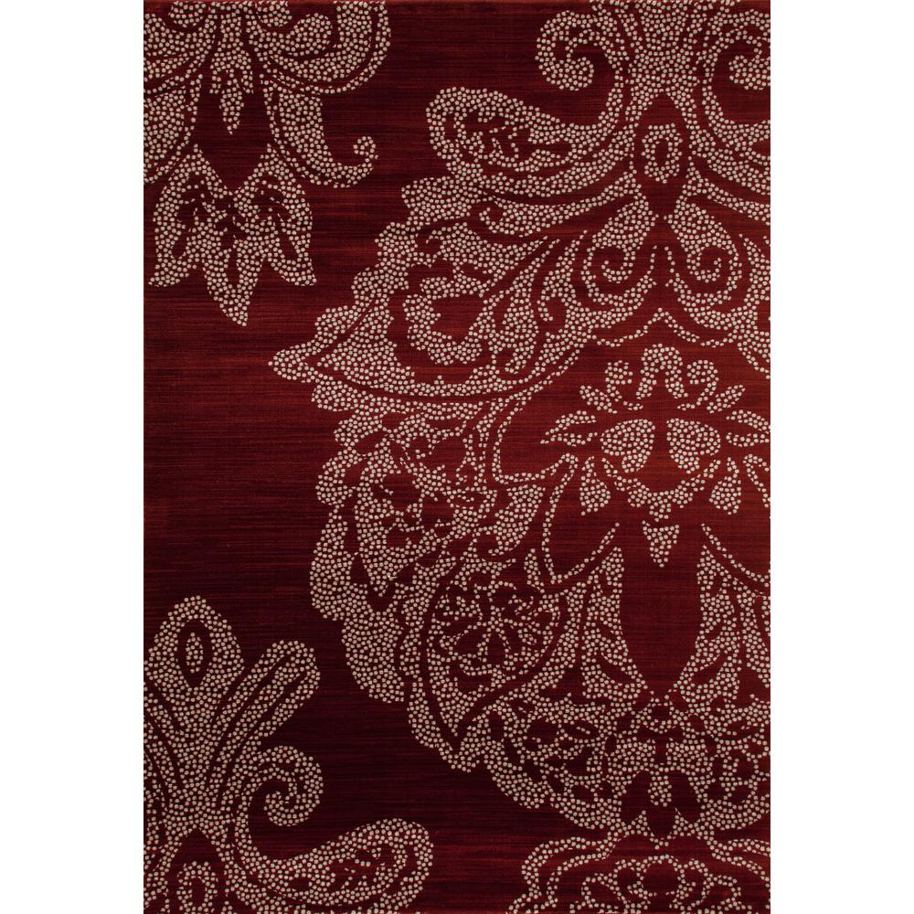Art Carpet Bastille Large Damask Red 5 Ft X 8 Area Rug