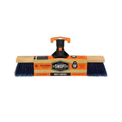 18 in. Premium Multi-Surface Push Broom Head