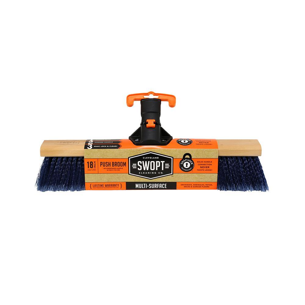 18 in. Premium Multi-Surface Push Broom Head