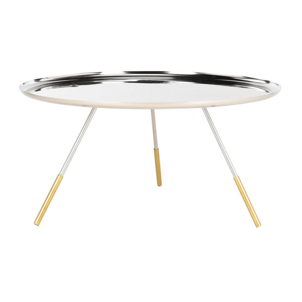 Safavieh Orson Silver/Gold Coffee Table FOX4525B