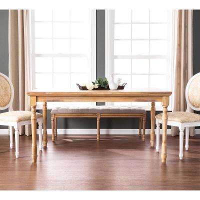 Ellery Aged Natural Wood Farmhouse Dining Table