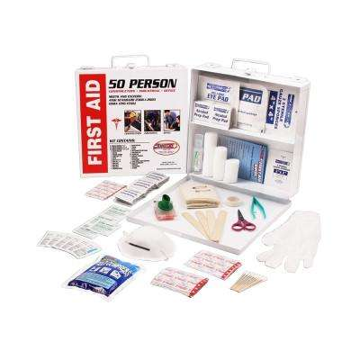233-Piece 50 Person OSHA/ANSI Metal First Aid Kit