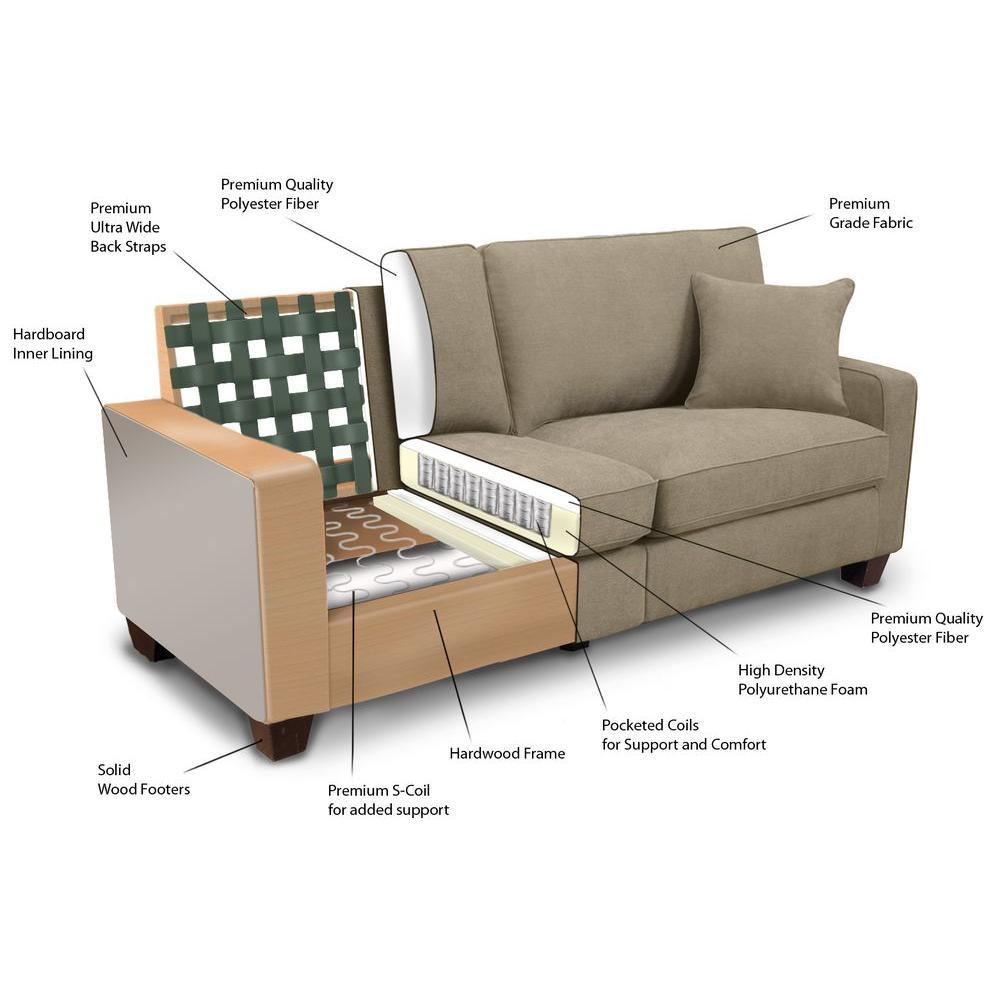 4 serta rta martinique navarre polyester sofa