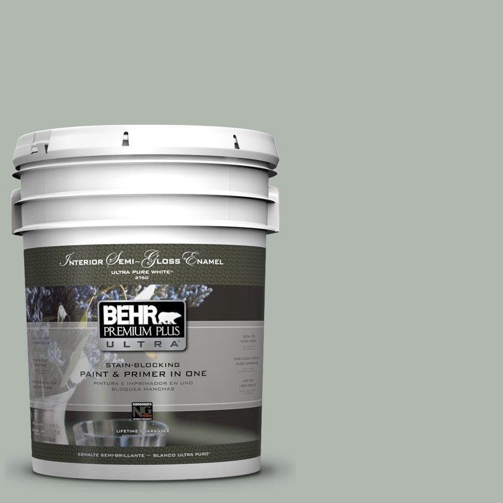 Behr premium plus ultra 5 gal ppu12 15 atmospheric semi gloss enamel interior paint and primer for Behr interior paint and primer in one