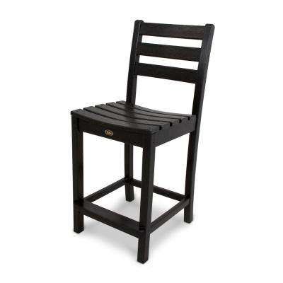 Monterey Bay Charcoal Black Patio Counter Side Chair
