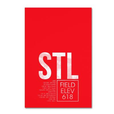 """16 in. x 24 in. """"STL ATC"""" by 08 Left Canvas Wall Art"""