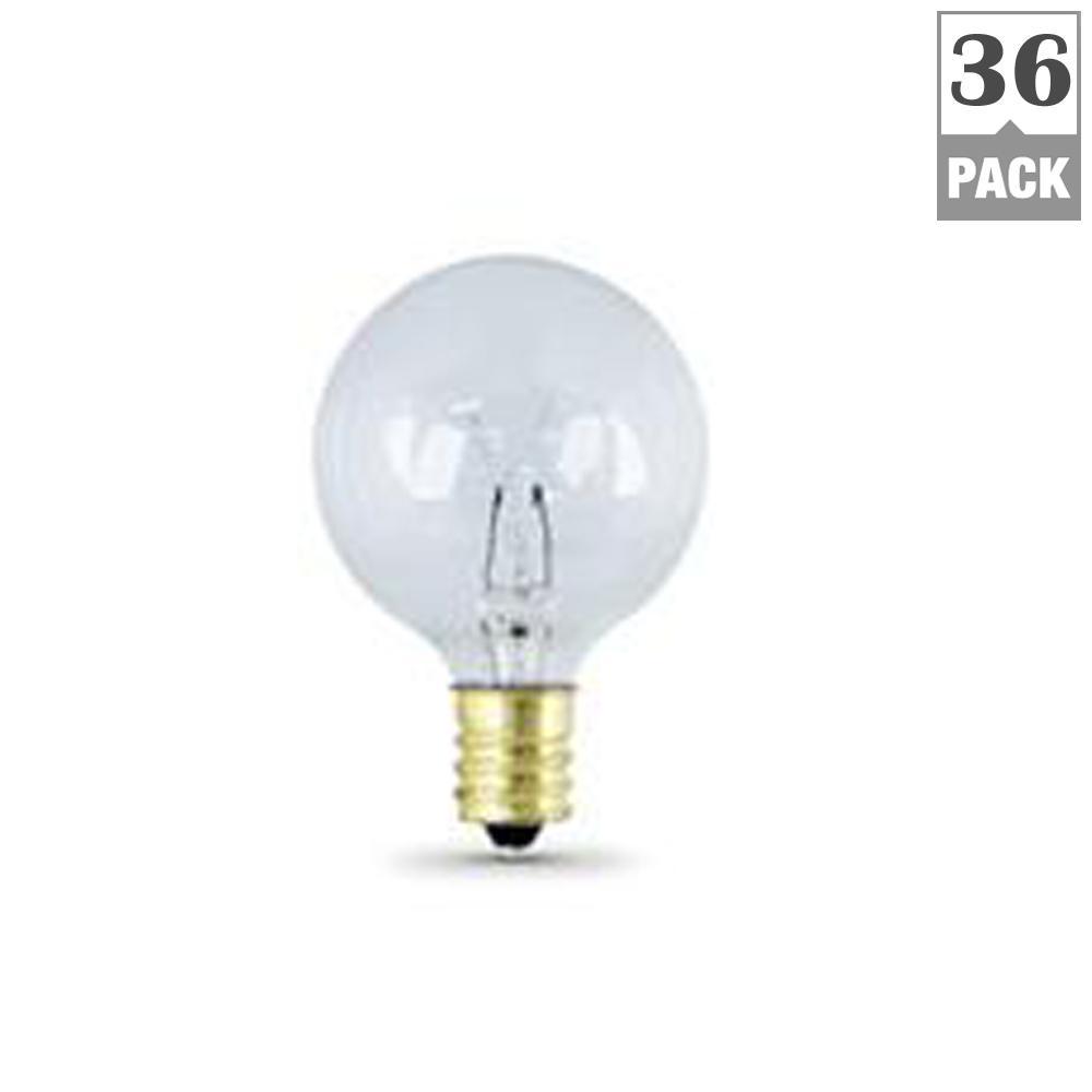 7-Watt Soft White G16.5 Incandescent Light Bulb (2-Pack) (Case of 36)