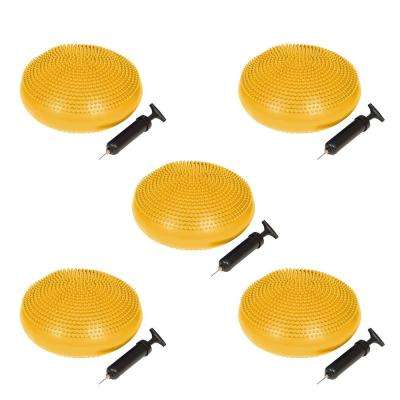 13 in. Dia PVC Fitness and Balance Disc in Yellow (Set of 5)