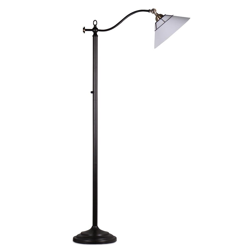 Springdale lighting laurel 58 in oil rubbed bronze floor for B spline led floor lamp