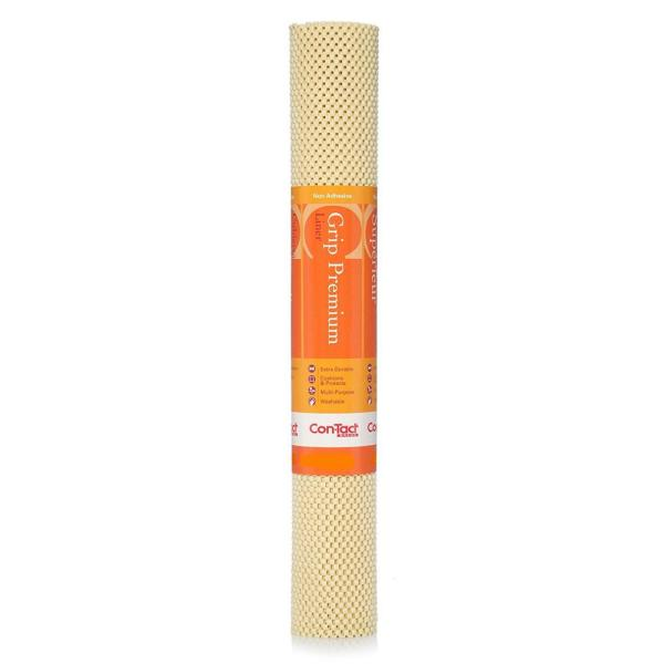 Con-Tact Grip Premium 12 in. x 4 ft. Almond Color Non-Adhesive Thick Grip Drawer and Shelf Liner (6-Rolls)