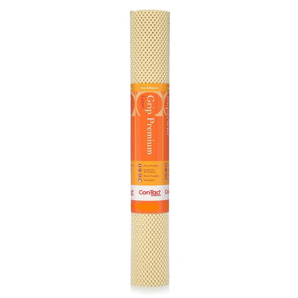 Con-Tact Grip Premium 12 in. x 4 ft. Almond Color Non-Adhesive