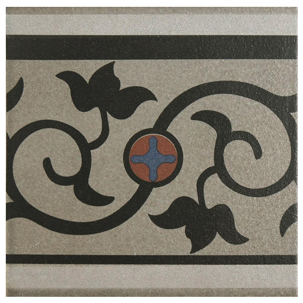 Merola Tile Cementi Quatro And Cenefa Encaustic 7 In X Porcelain Floor